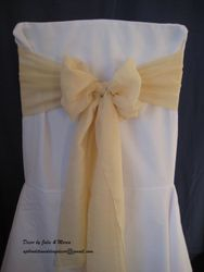 Nude voile bow.