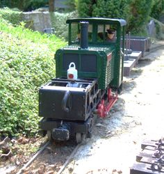 'Moelwyn' at Shade Gap pauses to exchange the line staff for the sections of line.