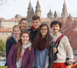 Part of the group in Santiago de Compostela