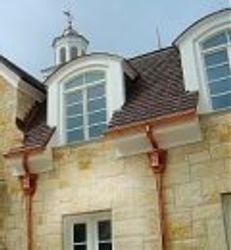 Copper k-style gutters