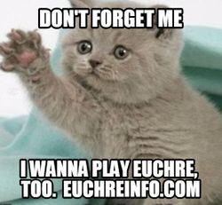 Don't forget me. I wanna play Euchre, too.