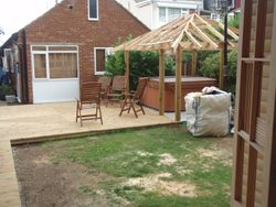 decking/ jacussi enclosure