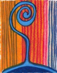 Bubble Disolving, Oil Pastel, 11x14, Original Sold