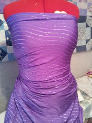 641# Purple with silver glitter