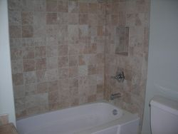 SHOWER AFTER WITH BRAND NEW TILE WORK