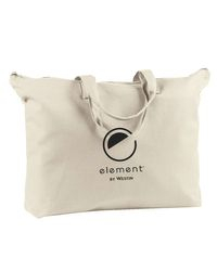 "Canvas Tote Bags. Color: Natural. 22""L x 15""H - Carrying Handles - Zippered Top AND Zippered Inside Pocket!"