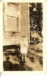 Hubert Linwood Raburn Jr 1st day of school 1935