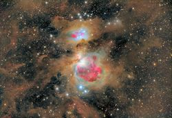 M 42 dusty wide field