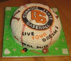 Baseball Logo Cake