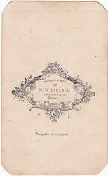 M. B. Yarnall, photographer of Phoenixville, PA - back