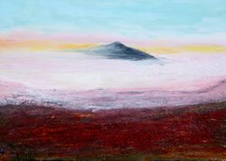 Vulkan im Nebelmeer