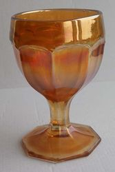 Colonial goblet in marigold.