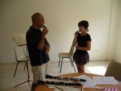 Clase de clarinete con Javier