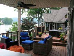 Two Story Full Length Trex Deck & Railing 7