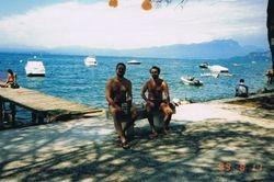 With Igor, Lake of  Garda, 1999