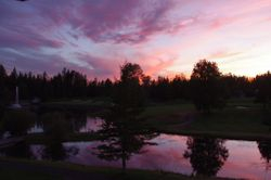Golf Course Sunset