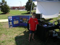 Riley at his Tent.