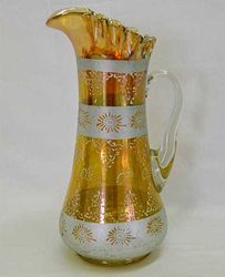 Silver Queen tankard water pitcher, marigold
