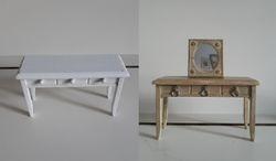 Cheap sade table turned vanity