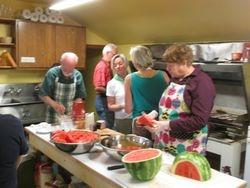Kitchen is a blur of activity!