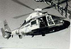 Coast Guard helo attached for drug enforcement