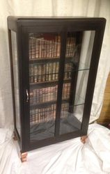 Books glass cabinet