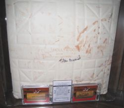 Stan Musial Day Game Used Base Signed By Stan
