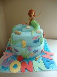 Ariel Themed cake 2 (B093)
