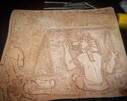 Egyptain bag 1 tooled
