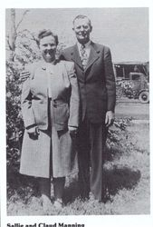Claude Manning and wife Sally Myra Hughes Hargett