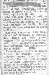 Brumbaugh, Juniata Sell 1961