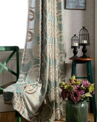 Overlap Burnout Velvet Curtains