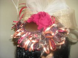 Brown Satin Fascinator