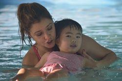 Lauren swimming