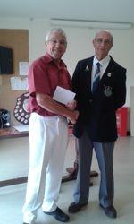 Umpire David Cox & Hon. Sec. Peter Saunders.