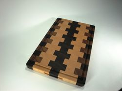 Walnut, Cherry, Maple End-Grain Cutting Board