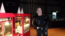 Arnold Schwarzenegger Visiting the Popcorn cart at Magna Sheffield
