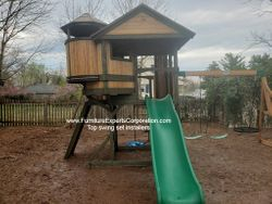 Backyard Discovery Eagle's Nest Elite Playset installation in ashburn Virginia