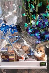 Orchids and goodies basket