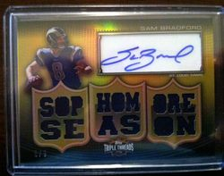 201 Topps Triple Threads Sam Bradford Rookie Jersey Auto # 8/9
