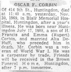 Corbin, Oscar 1969