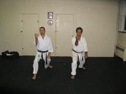 Sensei and Doug Practic Kata