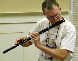 John Trexler playing Irish flute