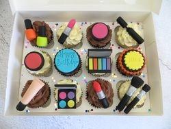 Make up themed Birthday Cupcakes