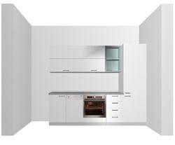 prospetto cucina rendering