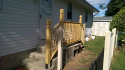 Presure Treated Railing Installation