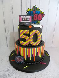 80s themed 50th Birthday Cake