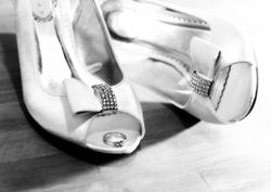 Bride's Shoes & Ring - Mono
