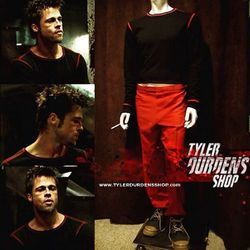 Fight Club Black Shirt w/red stitching
