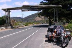 Trike & Camper on the Great Ocean Rd